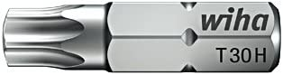 1//4 T40H 01733 Wiha Bit Standard 25 mm TORX/® Tamper Resistant mit Bohrung