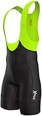Sparx Elite Men/'s Cycling Bib Shorts Bike Racing Bibs CoolMax Padded