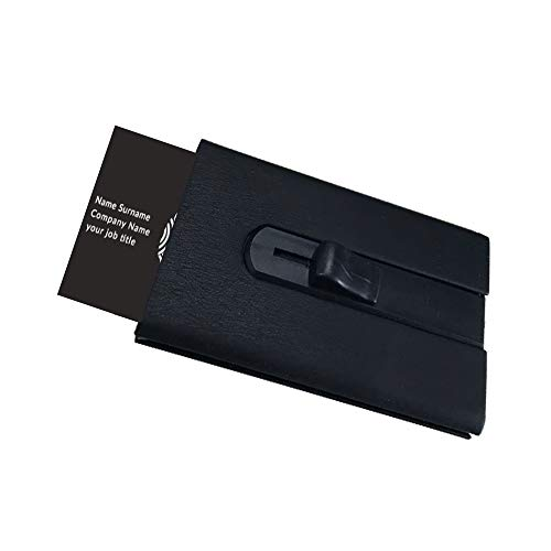 Ivy Trade Business Card Holder Case PU Leather Thumb-Drive Business Card Case for Men or Women Father