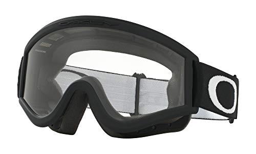 Oakley L-Frame MX Goggles (Matte Black Frame/Clear Lens Glasses, One Size)