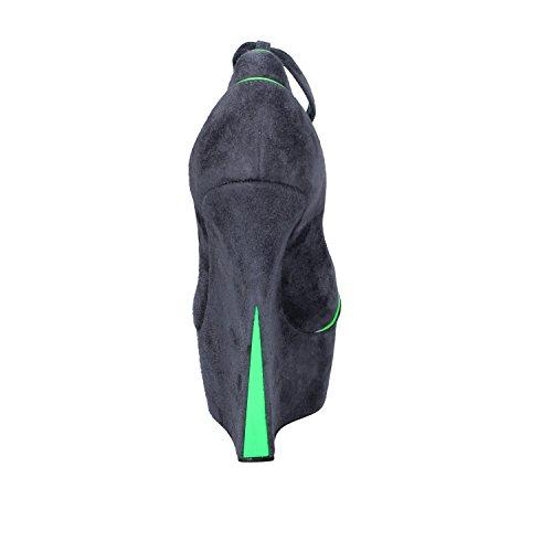 Donna zeppa Casadei camoscio grigio scarpe verde rEr4qZH