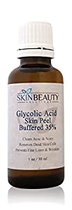 GLYCOLIC Acid 35% BUFFERED Skin Chemical Peel - Alpha Hydroxy (AHA) For Acne, Oily Skin, Wrinkles, Blackheads, Large Pores & More (from Skin Beauty Solutions) made by Skin Beauty Solutions