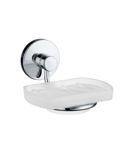 Studio Holder with Frosted Glass Soap Dish Finish: Polished Chrome -