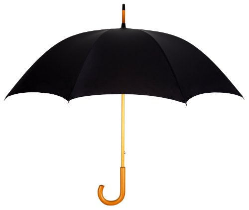 black-fashion-umbrella-with-genuine-wood-shaft-handle-lifetime-warranty