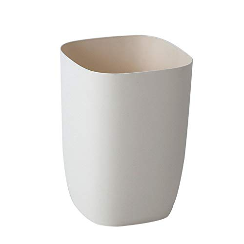 - Topgalaxy.Z Small Waste bin/Kitchen Trash can, 2 Gallon Plastic Garbage Can Wastebasket Waste can for Home or Office, Office Trash Can (Beige)