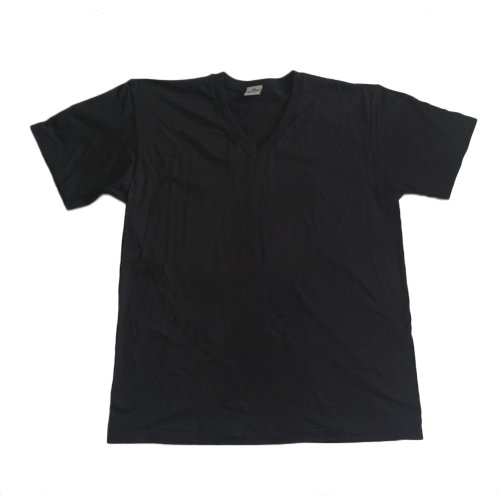 100% Cotton Pro Club V-Neck T-Shirt Black 2X-Large, 5.9oz