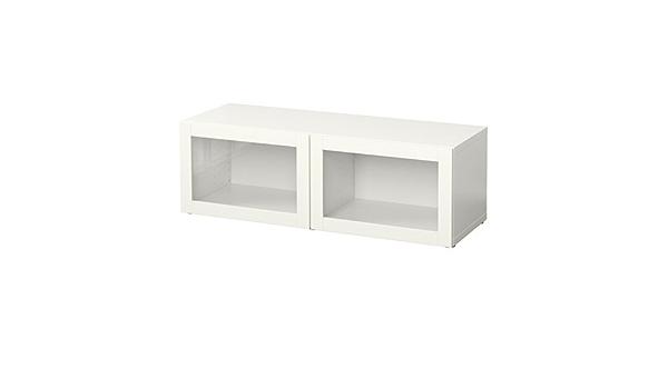 IKEA BESTA – Estantería con puertas de cristal sindvik blanco ...