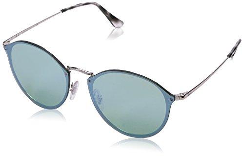Ray-Ban Unisex Non-Polarized Iridium Round Sunglasses, Silver, 59 - Ray Ban Blaze Clubmaster