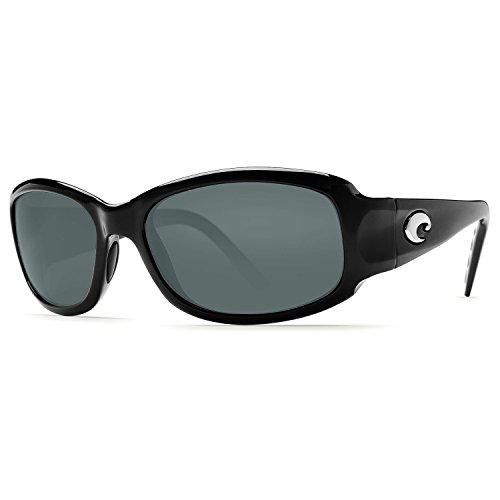 Costa Del Mar Vela Polarized Sunglasses Shiny Black / 580P - Vela Mar Costa Sunglasses Del