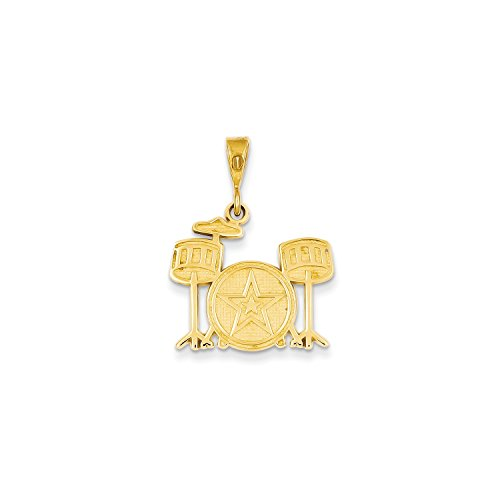 Yellow Gold Drum Set Charm (Gold Drum Set Charm)