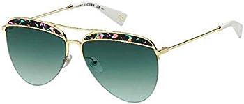 MARC JACOBS Green Aqua Aviator Sunglasses