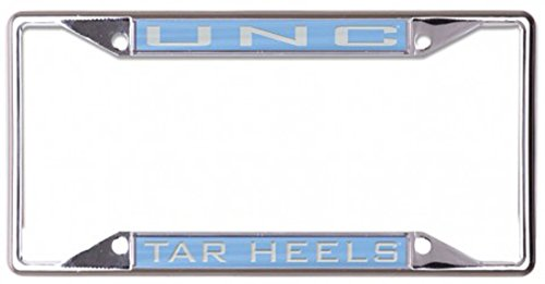 (WinCraft University of North Carolina UNC Tar Heels License Plate Frame, Metal with Inlaid Acrylic, 4 Mount Holes, Blue)