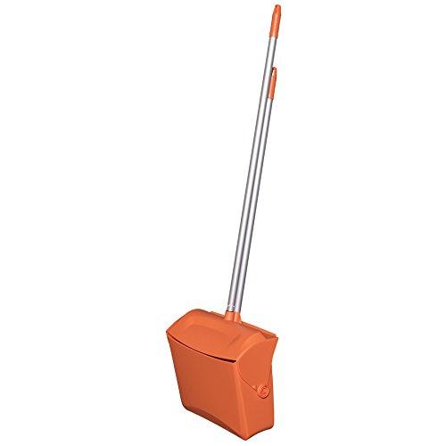 Remco 62507 Lobby Dustpan with Broom, Polypropylene/Polyester/Aluminum, 7'' X 14'' Bin, 37'' Handle, Orange by Remco (Image #2)