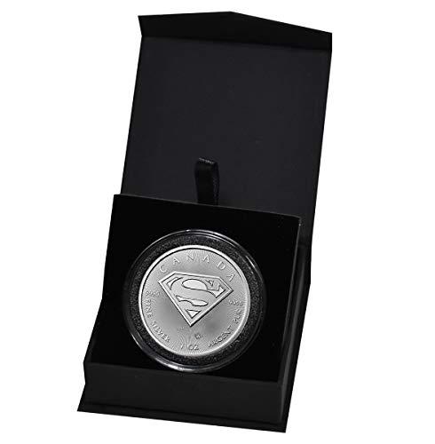 2016 CA Superman S-Shield Man of Steel 1 Troy Oz .9999 Silver Bullion in Capsule and Presentation Box $5 BU -