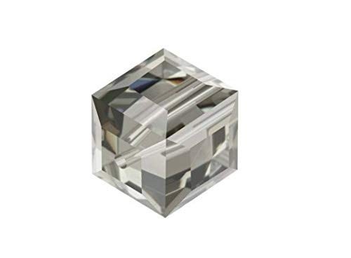 50 4mm Adabele Austrian Cube Crystal Beads Smoked Quartz Compatible with Swarovski Crystals Preciosa 5601 SSC421