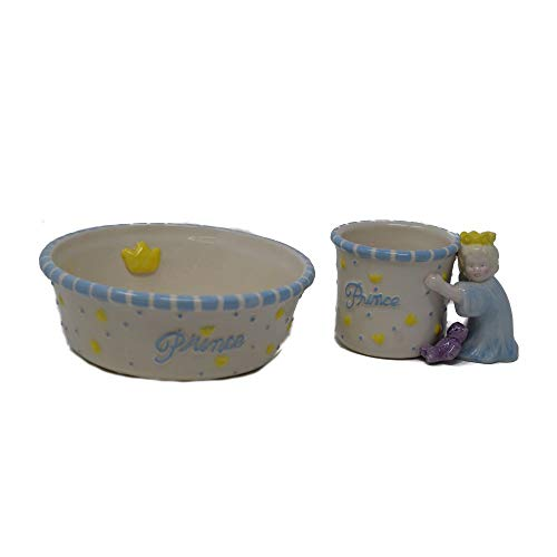 Mud Pie Prince Cup and Bowl Set