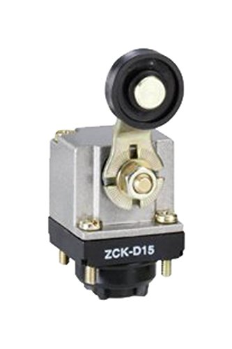 Telemecanique ZCKD15 Plastic Limit Switch Head for ZCKM and ZCKL Series Body, Roller Lever-Type, Side-Position, 360-Degree Orientation, Spring Return