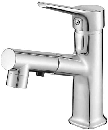 DXX-HR バスルームのシンクは、スロット付き浴室の洗面台のシンクホットコールドタップミキサー流域の真鍮シンクミキサータップ非震とう360操縦可能なバスルームペデスタル盆地のバスルーム洗面ダブルタップタップ