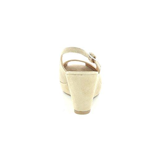 Beige Compensées Semelles Alesya amp;scarpe Cuir Devant Scarpe By Ouvertes En nqnxFa4wzg