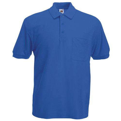 Fruit of the Loom 65/35 Pocket polo Royal Blue 3XL
