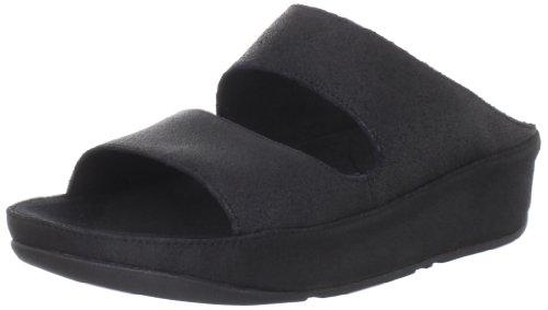 Fitflop - Sandalias de vestir de cuero para mujer Black