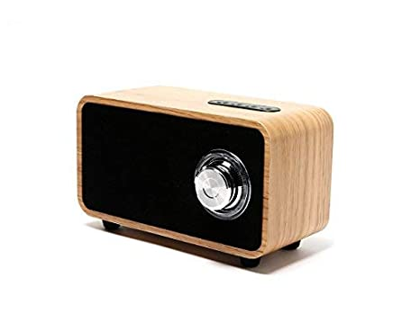 OHHAI Bluetooth Speakers with Super Bass and Subwoofer Bluetooth Speaker  Wooden, Portable 3D Stereo Music Sound Speaker with 10-Hour Playtime,