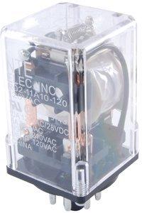 NTE Electronics R02-11D10-12 R02 Series General Purpose Multicontact DC Relay, DPDT Contact Arrangement, 10 Amp, 8 Pin Octal Plug, 12 VDC - Dpdt Relay Amp 12vdc 10