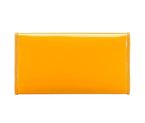 Wittchen Brieftasche   Farbe: Gelb  Material: Lackleder  Größe: 18,5x10 CM,   Orientierung: Horizontal   Kollektion: Verona  25-1-052-Y