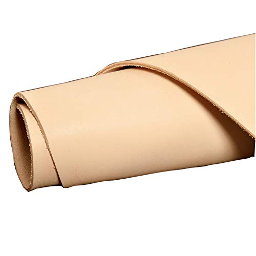 Shanghaipop Blank Genuine Leather Cow Hide Veg Tan Natural Fabric for Wallet Purse Bag DIY (30cm x 30cm)