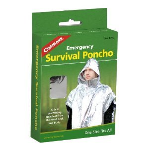 (Coghlan'S Survival Poncho Emergency 39 In. X 42.5 In. Aluminum)