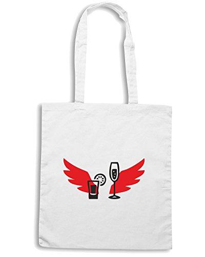 T-Shirtshock - Bolsa para la compra BEER0195 Cocktail-Magliette Blanco