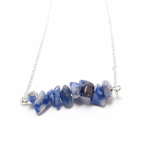 blue-agate-gemstone-chip-bar-silver-plated-necklace