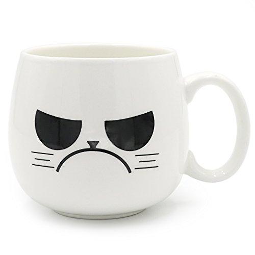 Asmwo 14 OZ Unique Cool Grumpy Gangsta Porcelain Coffee Mugs for Men/Women/Kids