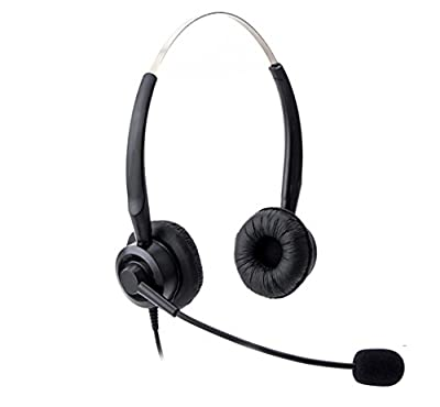Audicom H201STAC Corded Office Telephone RJ Headset with flexible Noise Canceling Mic for Aastra Shoretel Cisco E20 Polycom 335 VVX400 Digium D40 D70 Altigen 500 720 Comdial & Starleaf IP Phones
