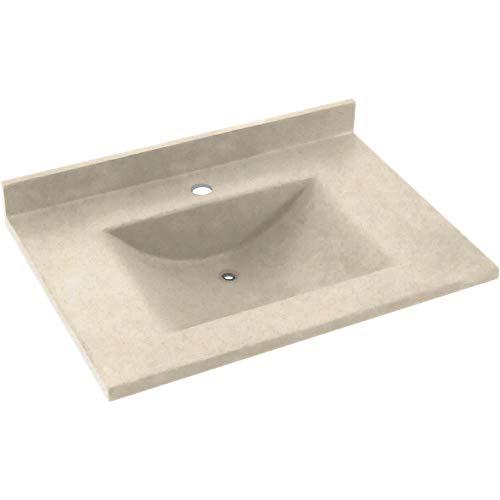(Swan CV1B-2225BL-051 Contour Solid Surface Bathroom Vanity Top Tahiti Sand)