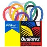 Qualatex Balloons, 260 Q, 100 Per bag, Assorted Pink, Pastel Blue, White, Onyx Black, Quartz Purple, Ruby Red, Citrine Yellow and Mandarin Orange