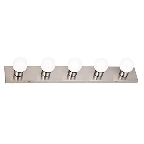 Design House 519306 5 Light Vanity Light, Satin Nickel - Finished 5 Light Vanity