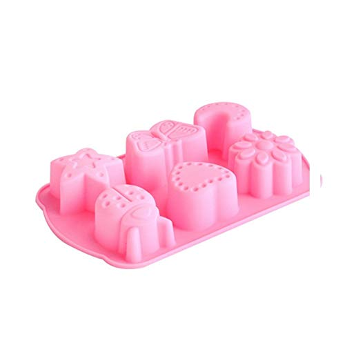 Amazon.com: Best Quality Hah 6 Cavity Insects Butterfly Moon Star Shaped 3D Silicone Cake Fondant Chocolate Ice Cube Soap Decorating Tray Mold: Kitchen & ...