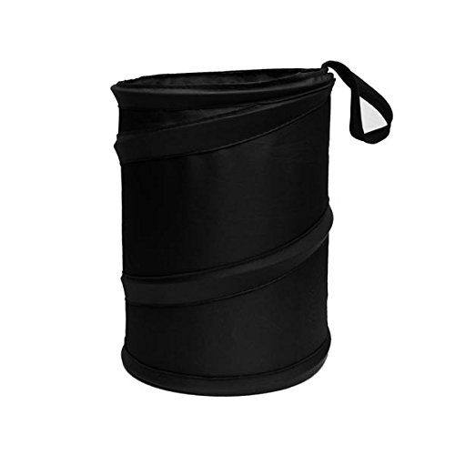 FH GROUP FH1121BLACK Auto Car Trash Can Portable Collapsible Car Trash Can Waterproof Garbage Container Large, Black Color - 1997 Lincoln Town Car Auto