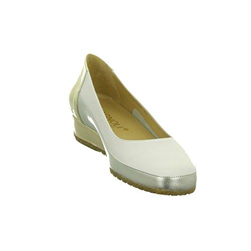 Bagnoli Women's 6060 Weiss Ballet Flats Weiß sbims0bp