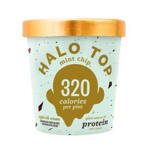 Halo Top, Mint Chip Ice Cream, Pint (4 Count) (Best Halo Top Ice Cream)