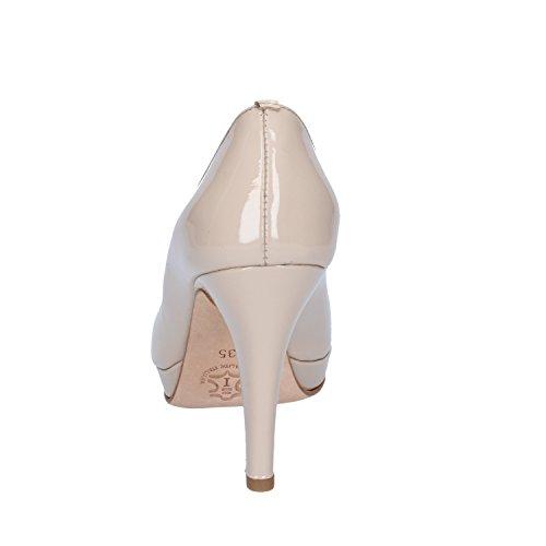 CALPIERRE Zapatos de vestir de charol para mujer Beige beige