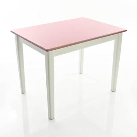 Kinderbunt Tim - Mesa para niños bicolor blanco/rosa/69x49x51cm ...
