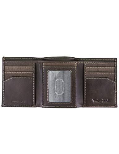Timberland Men's Canvas & Leather Trifold Wallet 4