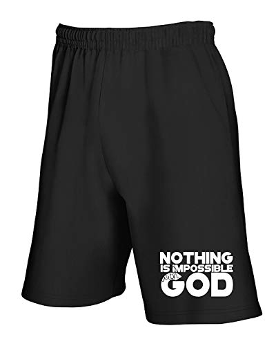 shirtshock Nothing Pantaloncini T Is God With Tuta Impossible Wes0093 Nero OqqHSUBdw