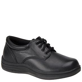 InStride Malibu Womens Comfort Therapeutic Extra Depth Casual Shoe leather lace-up Black 2ydi9vzNU