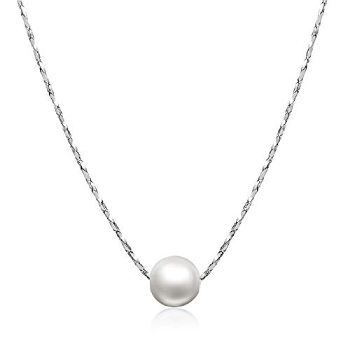 - ORANGELOVE 18K White Gold Plated Jewelry Love Mom Necklace Chain Pendant (Imitation Pearl-White Gold Plated)