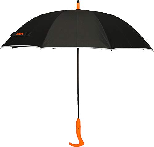 SWIMS Unisex Umbrella Long Black/Orange One Size from SWIMS