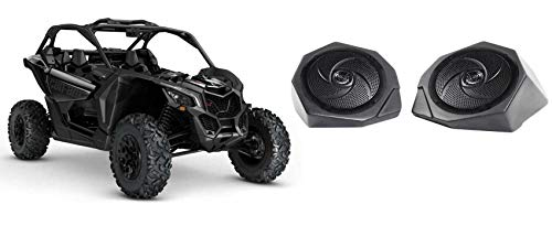 "Can-Am Maverick X3 6.5"" Waterproof Speakers + Pod Enclosures Front Kick Panels -  SSV Works, 170-X3-F65-U+RSM65B MAVERICK"
