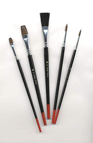 Artist Extra Art Craft and Hobby 5 Brush Assortment Set (61-30505)